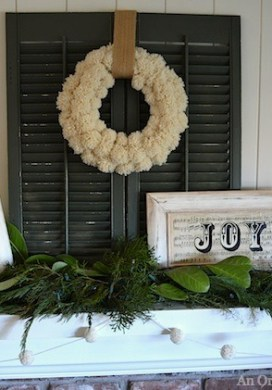 Green & White Christmas Decor