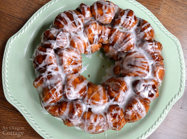 Glazed real food make ahead monkey bread
