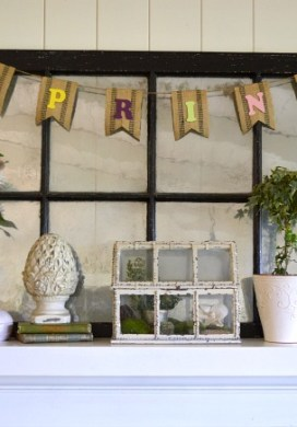 Eclectic Spring Mantel & Updates