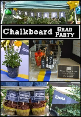 Chalkboard Theme Graduation Party