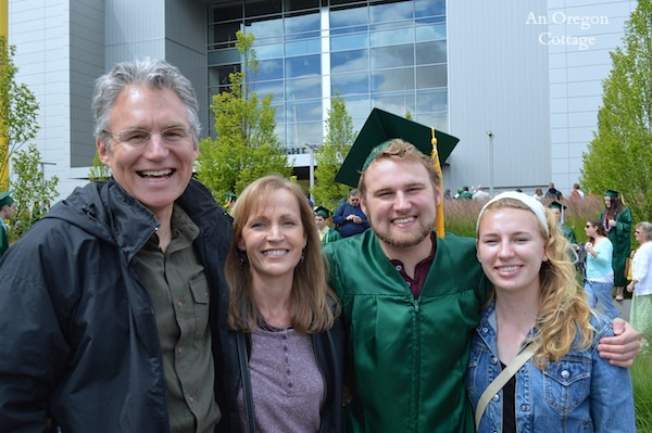 An Oregon Cottage Family at UO Graduation