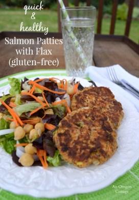 Salmon Patties with Flax {Gluten-Free}