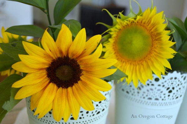 Sunflower Centerpiece - An Oregon Cottage