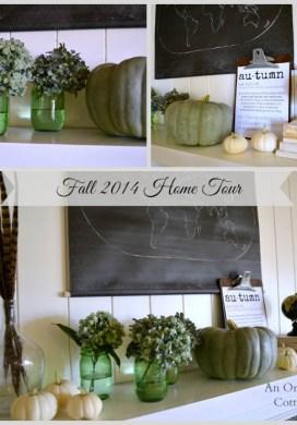 Fall Decorating 2014: Maps, Globes, Hydrangeas & Pumpkins