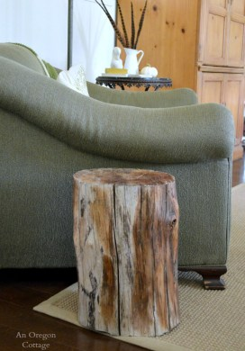 Wood Stump Side Table