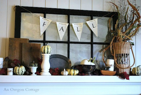 Fall 2012 Mantel & Book Page Banner - An Oregon Cottage