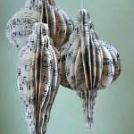3-D Vintage Sheet Music Ornaments Tutorial