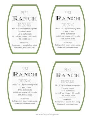 Ranch Dressing Recipe Tags