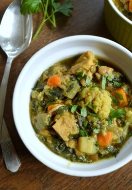 Slow Cooker Chicken, Vegetable & Lentil Curry