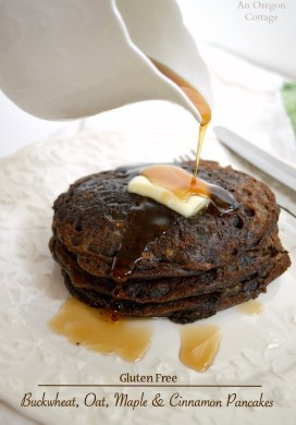 Gluten Free Buckwheat, Oat, Maple & Cinnamon Pancakes