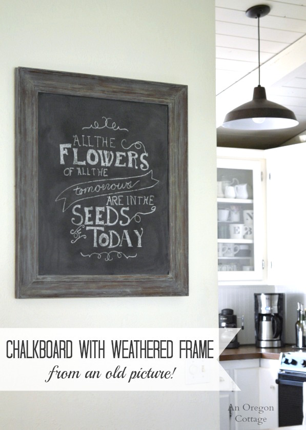 Diy Chalkboard Using Picture Frame | Framesite.co