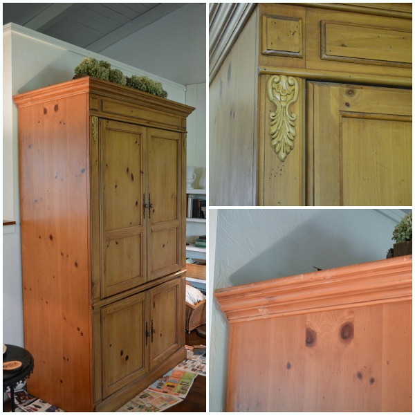 Pine Armoire Before Gel Stain