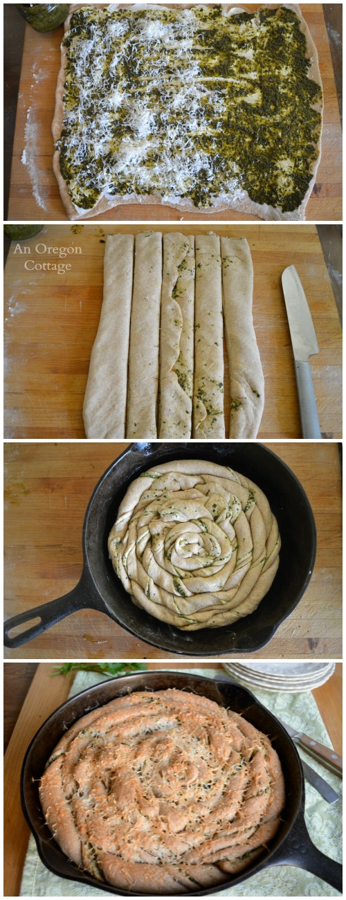 Quick and Easy Twisted Pesto Bread