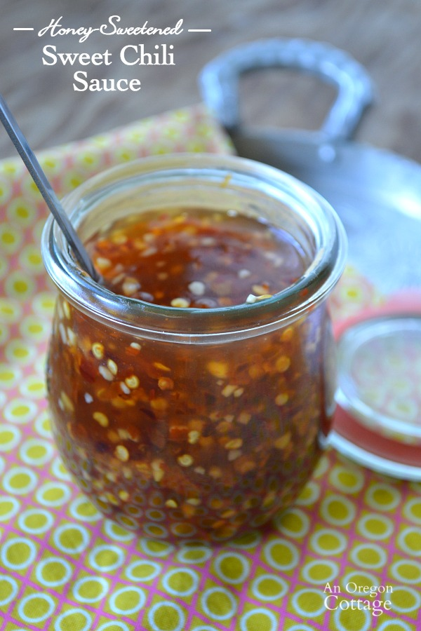 Easy Honey-Sweetened Homemade Sweet Chili Sauce made with dried chili flakes