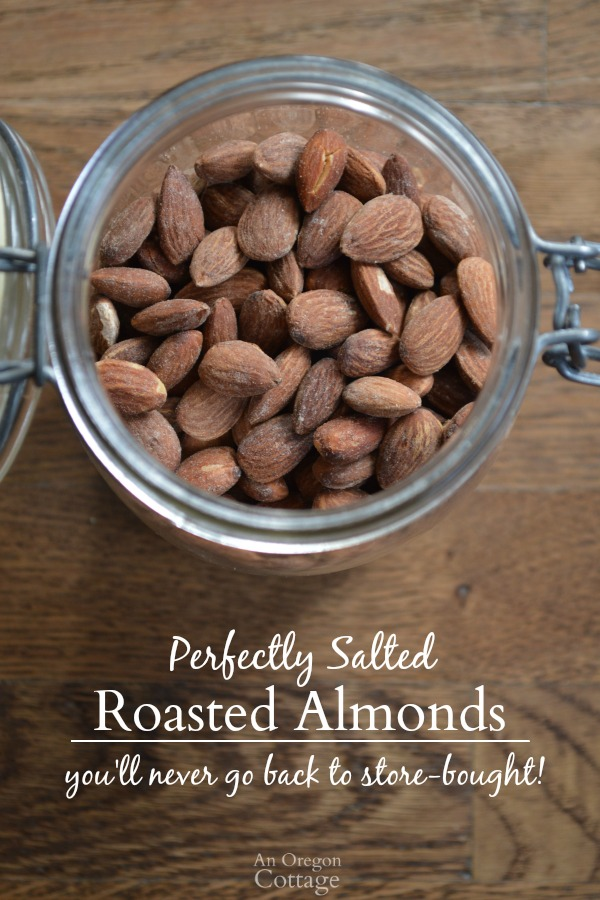 Perfectly Salted DIY Roasted Almonds seriously the BEST