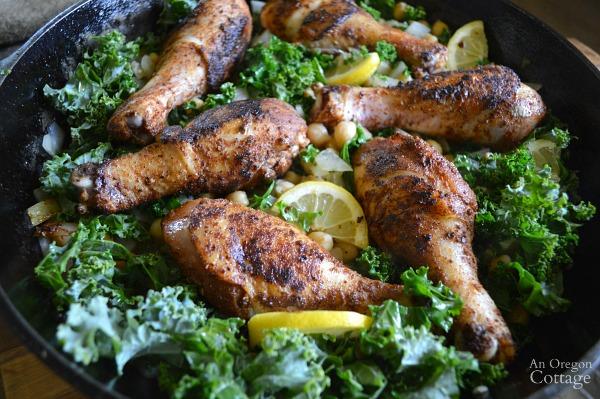 Spiced Lemon Skillet Chicken Ready for the Oven
