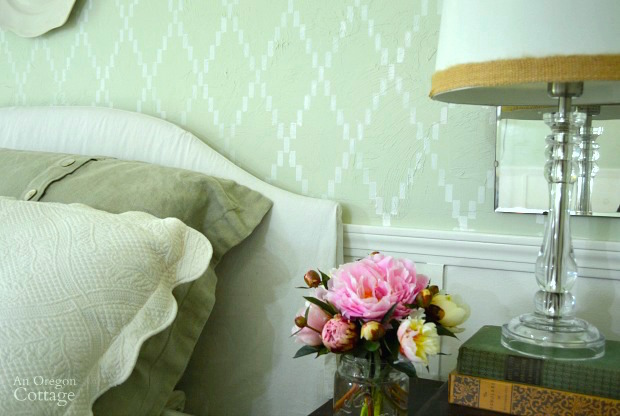 How to Stencil a Bedroom Accent Wall