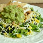 Chipotle Spiced Grilled Chicken Salad with Guacamole, Corn and Black Beans