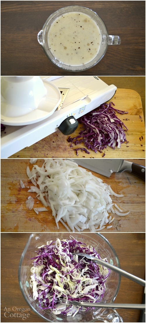 How to Make Cabbage Salad with Creamy Feta Vinaigrette