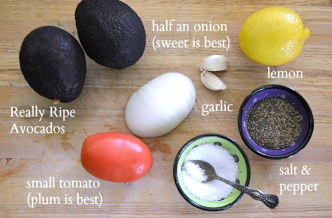 The Best Chunky Guacamole Ingredients