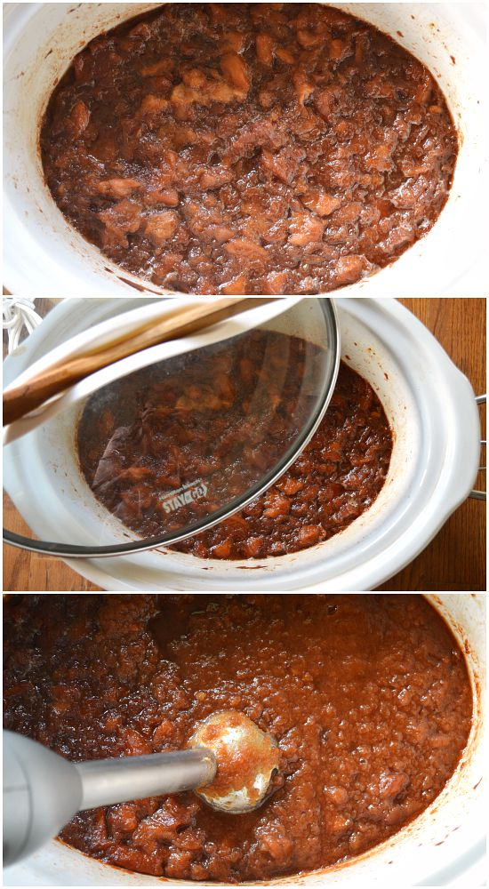 Cooking Maple Sweetened Apple Butter in Crock Pot