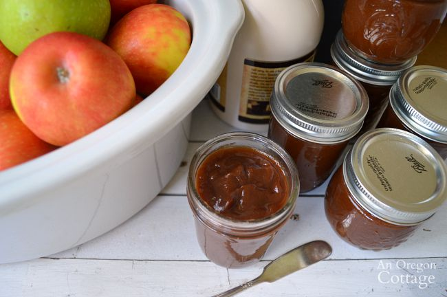 Easy Slow Cooker Maple Sweetened Apple Butter