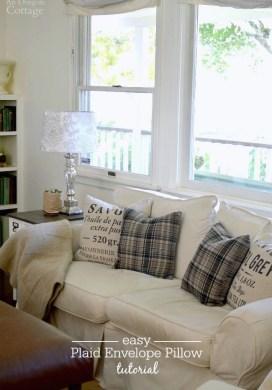 Easy DIY Plaid Envelope Pillow Tutorial