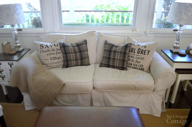 Easy Plaid Flannel Envelope Pillows