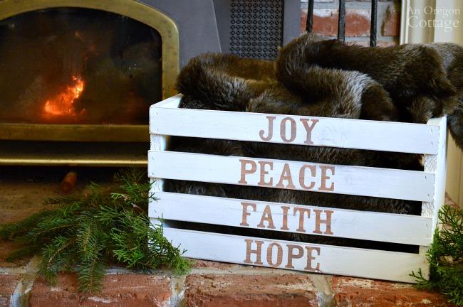 DIY Christmas Word Art Crate