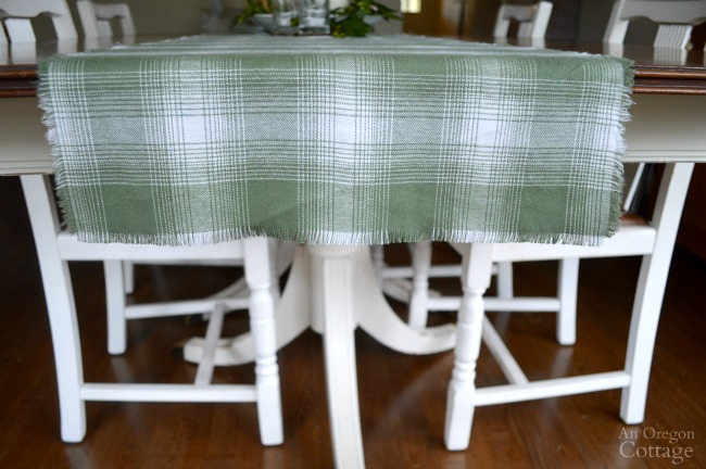 Super Easy No-Sew Fringed Table Runner