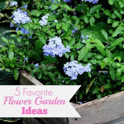 Favorite Flower Garden Ideas via House of Hawthornes