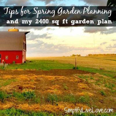 Spring Garden Tips via SimplifyLiveLove