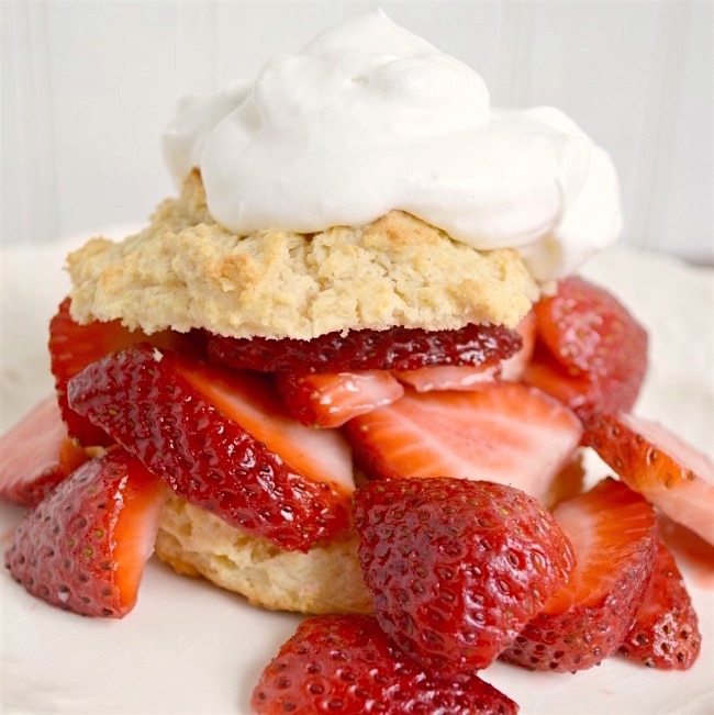 Strawberry Shortcake with perfect crunchy biscuits