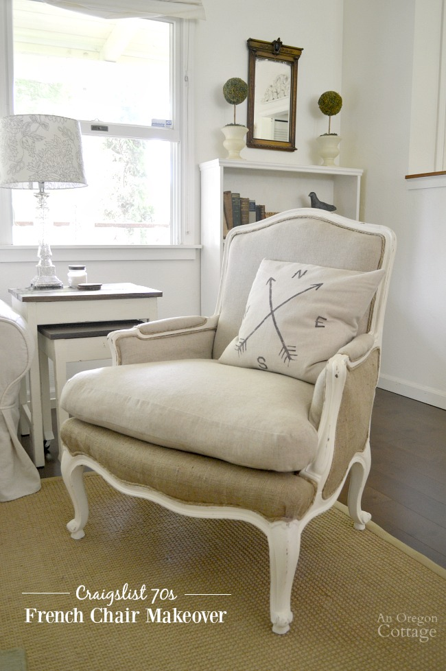 diy living room chair cover small decorating tips upholstered french chairs makeover an oregon cottage see how these 1970s 25 craigslist were brought into the