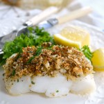 Easy Baked White Fish with Parmesan-Herb Crust is ready in 20 minutes - make a salad while baking and dinner's on the table!