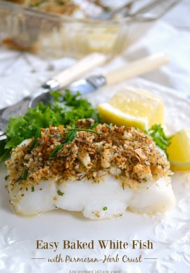 Baked White Fish with Parmesan-Herb Crust {ready in 20 minutes}
