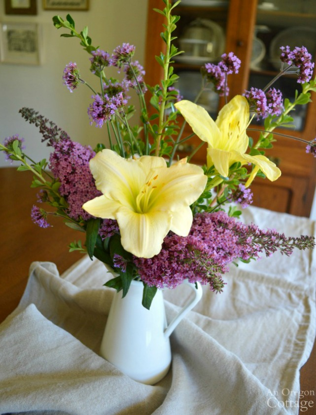 Backyard Flower arrangement July 2016