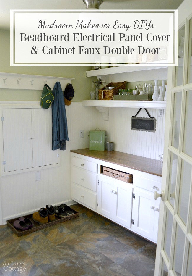 DIY Beadboard Electrical Panel Cover  Cabinet Faux Double