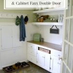 Easy DIYs for a Mudroom Makeover-Beadboard Electrical Panel Cover and Cabinet Faux Double Door