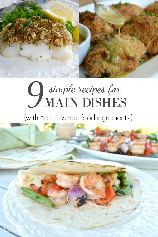 simple recipes for main dishes with 6 ingredients or less