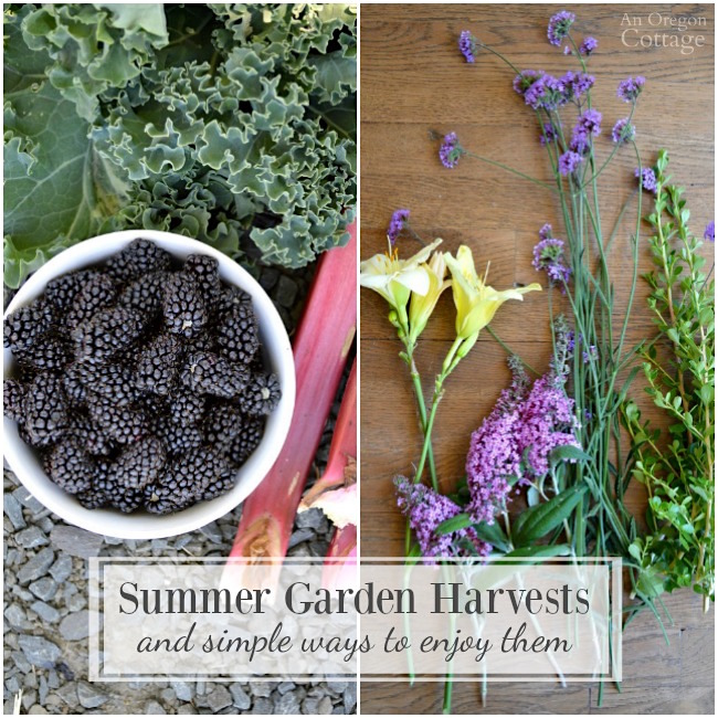 Summer Garden Harvests and simple ways to enjoy them