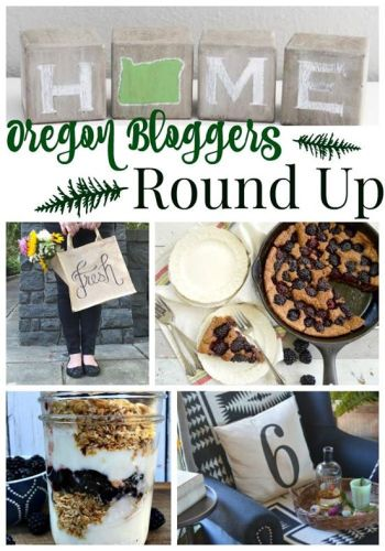 Easy crafts & blackberry recipes highlighting Oregon - fun, do-able, and delicious. Click for a pour-in-pan cobbler and scroll down for the other Oregon links!