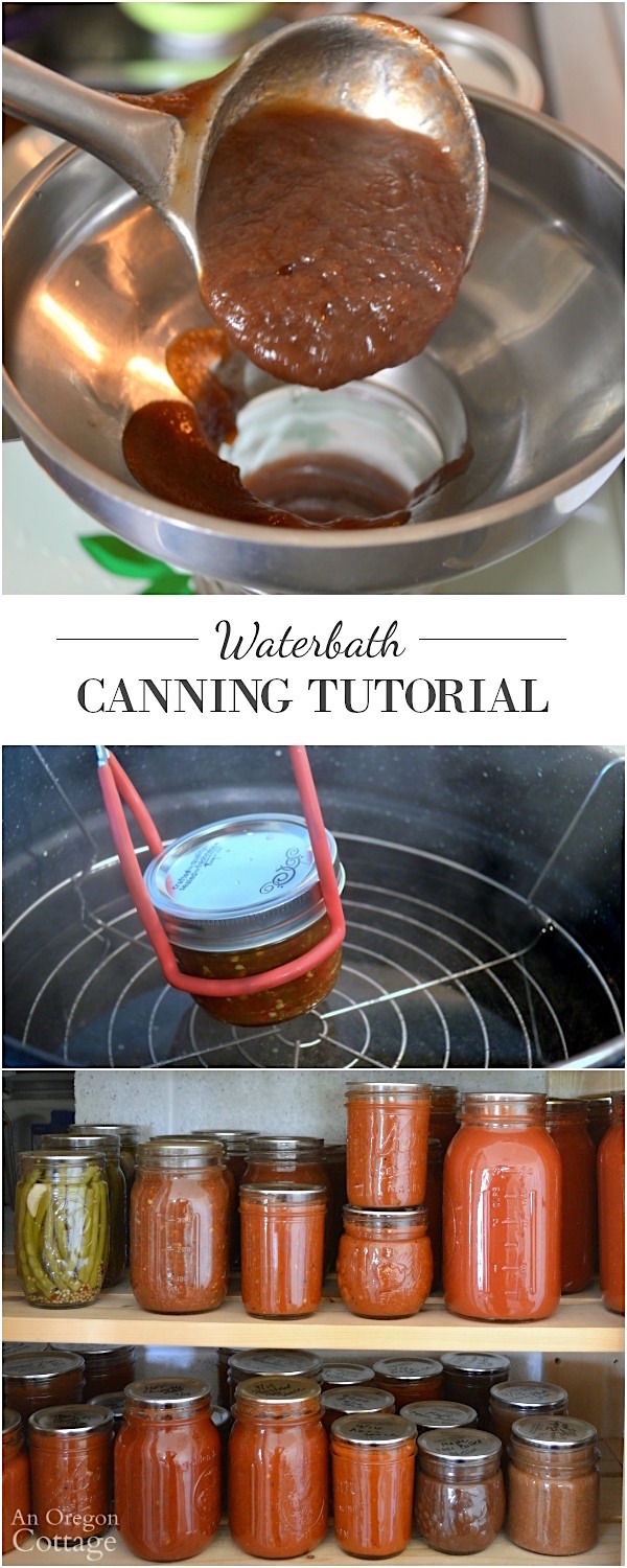 Water bath canning tutorial - take the mystery out of boiling water canning with this step-by-step how-to.