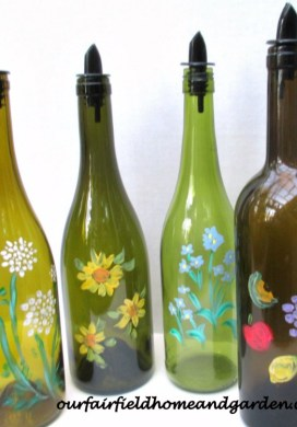 Upcycled Bottles for Kitchen & Laundry -31 Days of Handmade Gifts