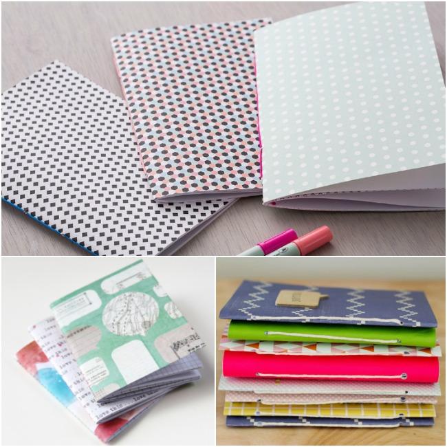 Handmade Gift Idea #29-DIY Notebooks with Pens