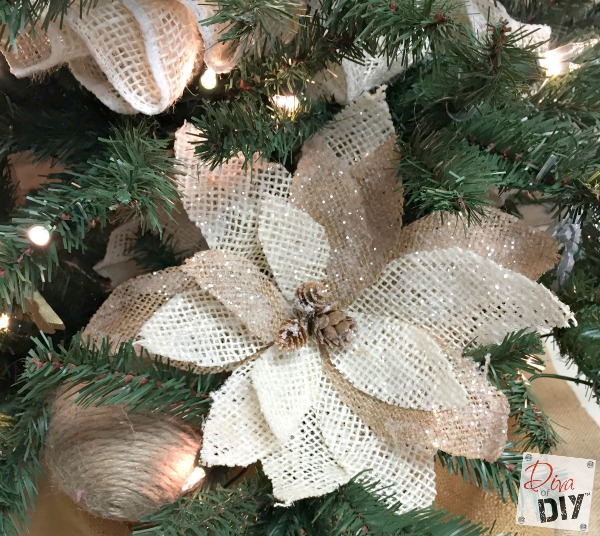 diy-poinsettia-burlap-flower via diva of diy