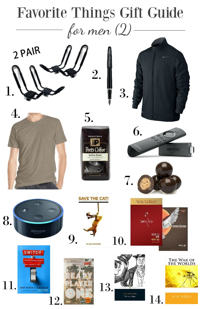 Favorite things gift guides for men- the things he will truly love and use.