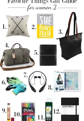 Favorite Things Gift Guides for Women