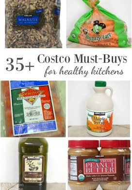More than 35 Costco Must-Buys for Healthy Kitchens: real, whole foods with organic options.