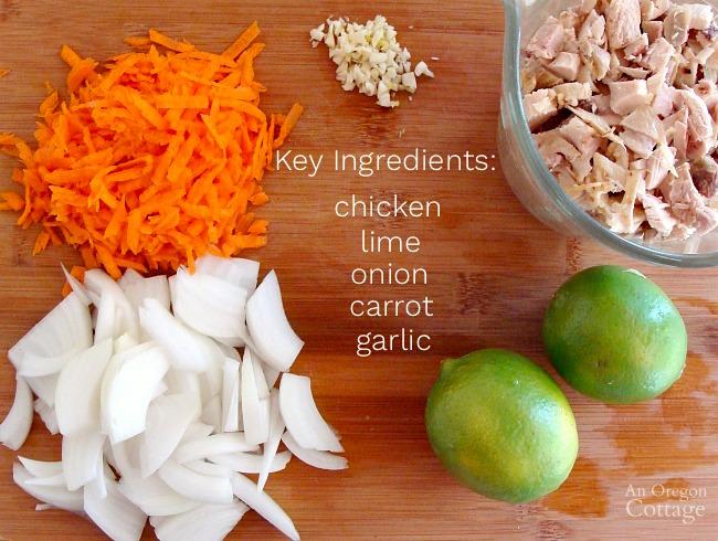 Chicken Lime Lettuce Wrap ingredients